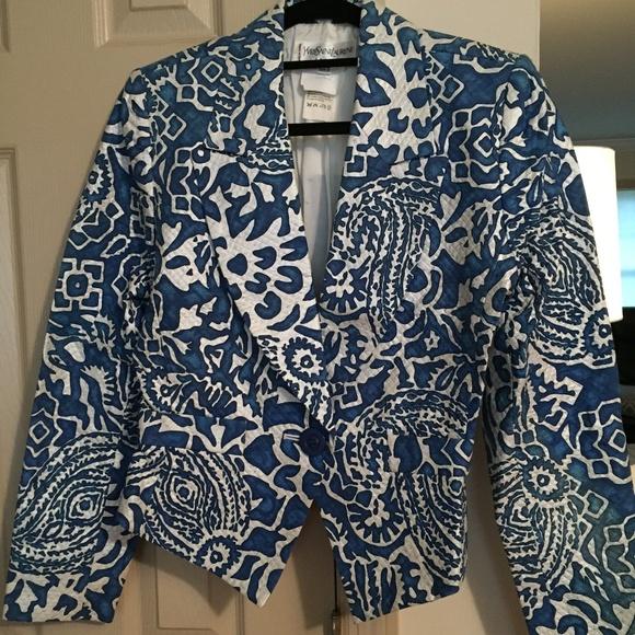 Yves Saint Laurent Jackets & Blazers - EUC 100% AUTH VINTAGE YVES SAINT LAURENT BLAZER
